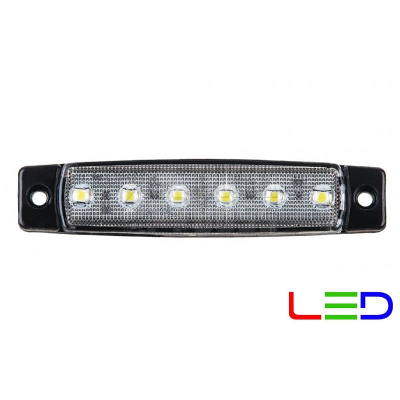 Габаритный фонарь светодиодный Белый 24v 6LED FR