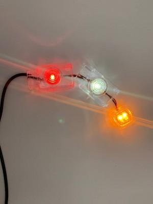 Вставка в габарит заноса прицепа трёхцветный 12-24V LED