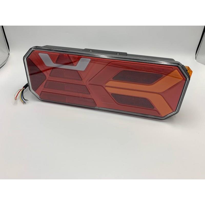 Универсальный задний фонарь с динамическим индикатором поворота и габаритным огнём LED+НЕОН 10-30V R