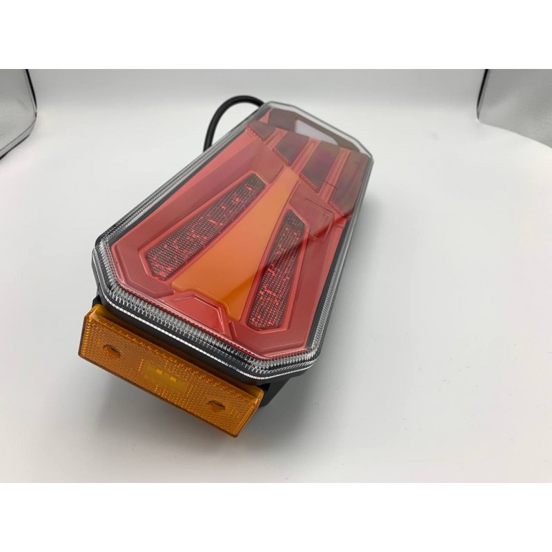 Универсальный задний фонарь с динамическим индикатором поворота и габаритным огнём LED+НЕОН 10-30V L
