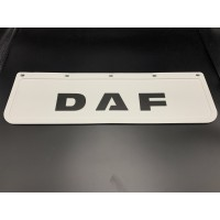 Брызговик резиновый с объемным рисунком, белый DAF Передний 600х180мм