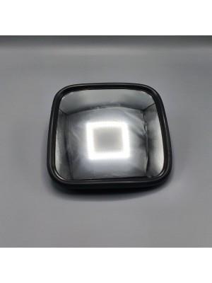 Зеркало заднего вида универсальное дополнительное сферическое 182*182*55 мм (маленькое) с монтажным комплектом LH=RH