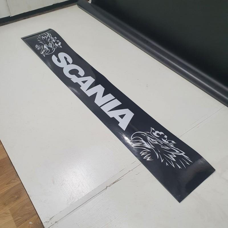 """Брызговик резиновый на задний бампер с надписью """"SCANIA"""" 2400х350мм"""