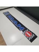 """Брызговик резиновый на задний бампер с надписью """"MAN"""" Синего цвета 2400х350мм"""