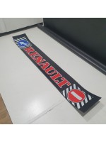"""Брызговик резиновый на задний бампер с надписью """"RENAULT"""" Красного цвета 2400х350мм"""