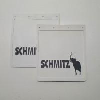 Брызговик резиновый с объемным рисунком, белый SHIMITZ Задний 450х400