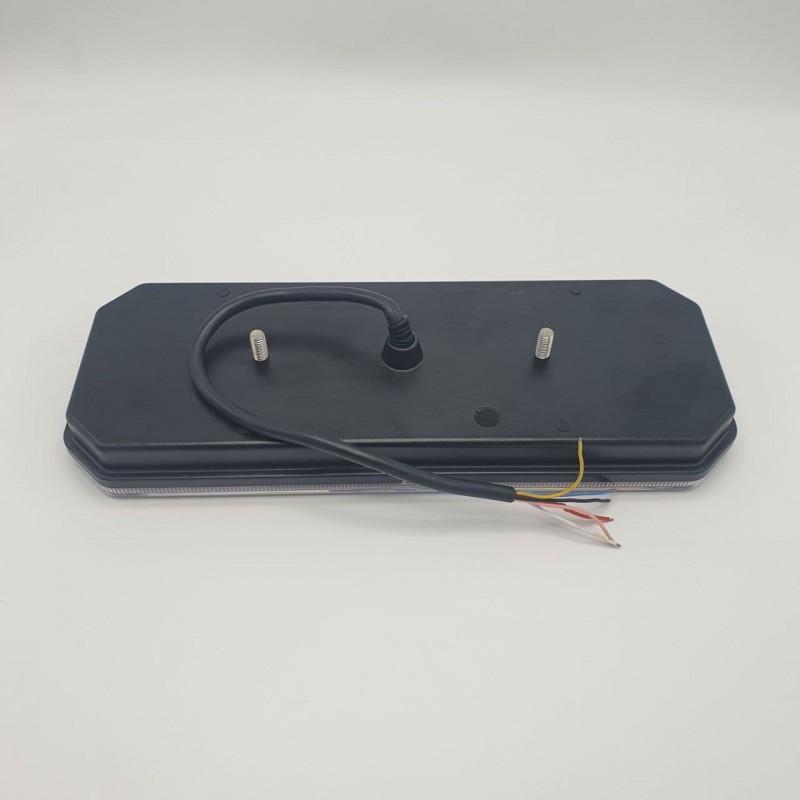 Универсальный задний фонарь диодный с динамическим индикатором поворота LED + НЕОН 10-30V R