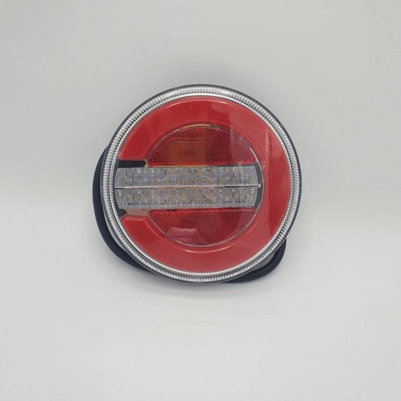 Универсальный задний фонарь заднего хода диодный круглый LED + НЕОН 10-30V