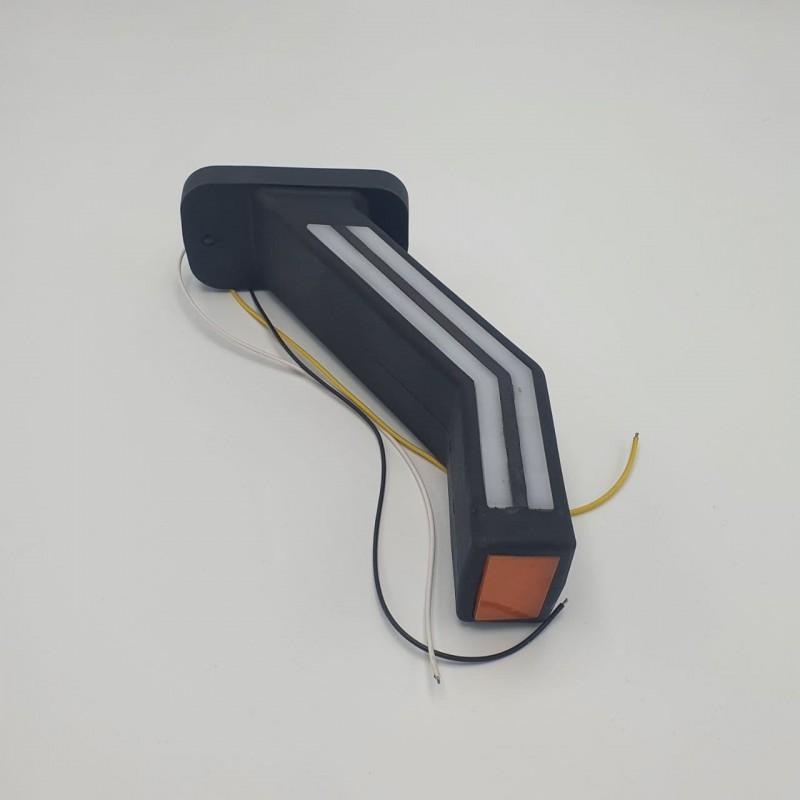 Габаритный многофункциональный фонарь заноса прицепа трёхцветный диодный LED 10-30V R