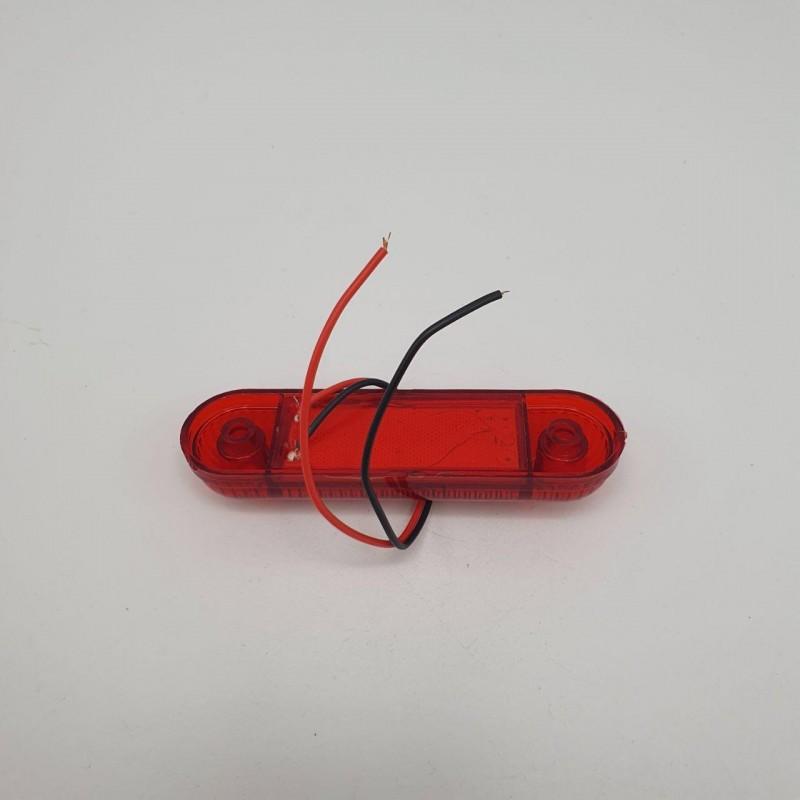 Габаритный фонарь светодиодный красный 3LED 24V