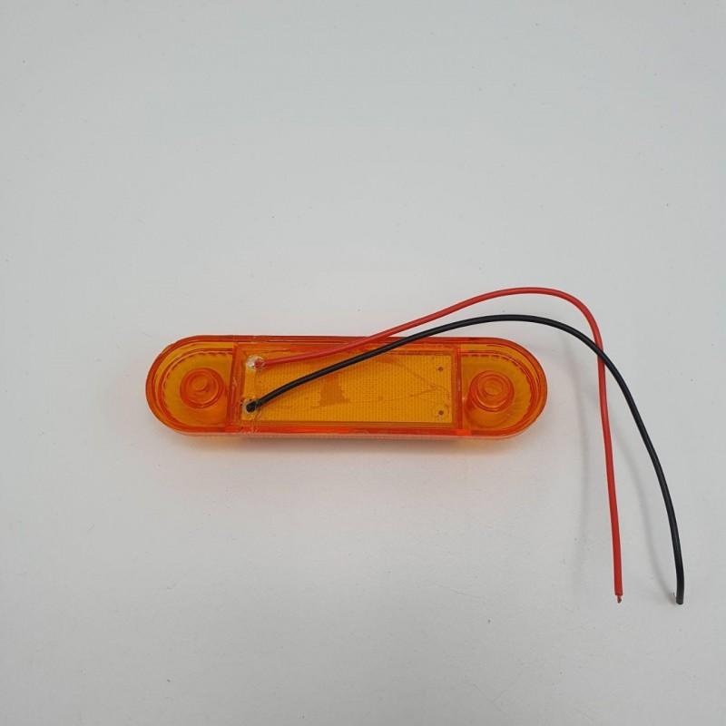 Габаритный фонарь светодиодный жёлтый 3LED 24V
