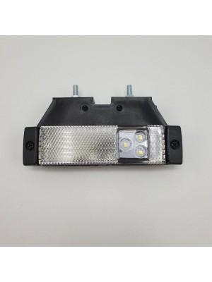 Фонарь габаритный на прицеп светодиодный с кронштейном Белый 24v LED