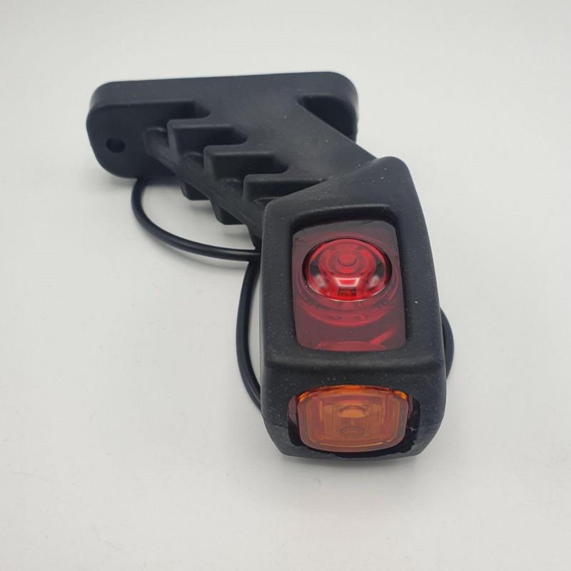 Габаритный фонарь заноса прицепа трёхцветный диодный LED 24V