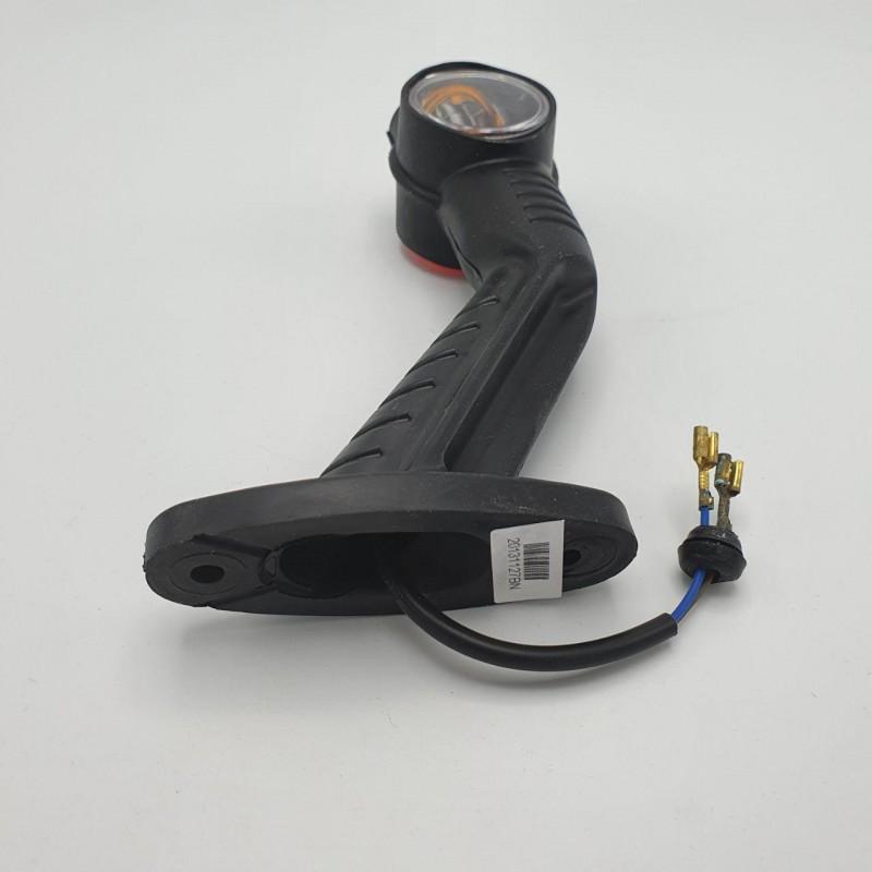 Габаритный фонарь заноса прицепа трёхцветный под лампочку 24V