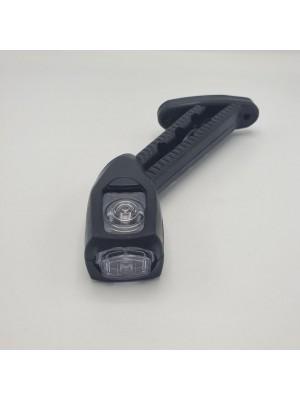 Габарит заноса прицепа трехцветный LED 24v 18см