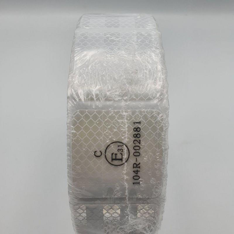 Лента ПВХ светоотражающая белая сегментаня с омологацией (знак Е)