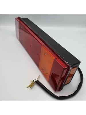 Фонарь задний универсальный 7-ми секционный с кабелем 030