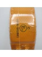 Лента ПВХ светоотражающая желтая сегментная с омологацией (знак Е) 45,7 м
