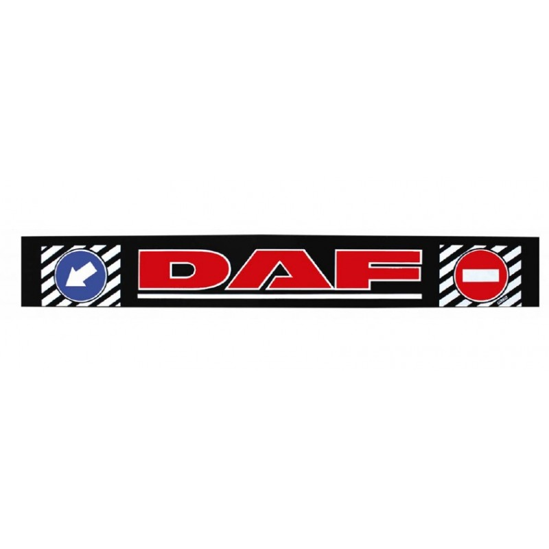 "Брызговик резиновый на задний бампер с надписью ""DAF"" Красного цвета 2400х350мм"