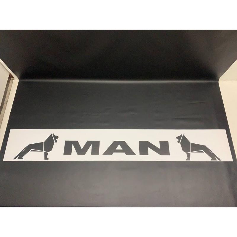 "Брызговик резиновый белый с надписью ""MAN"" 2400х350мм"