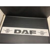"""Брызговик резиновый белый с надписью """"DAF"""" 2400х350мм"""