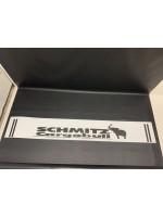 "Брызговик резиновый на задний бампер с надписью ""SCHMITZ CARGOBULL"" Белый 2400х350мм"