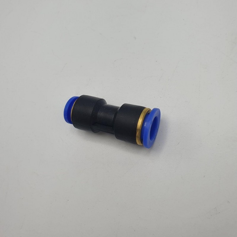 Аварийный соединитель пластиковый пневматический прямой Ø 8 мм - Ø 10 мм
