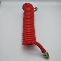 Шланг пневматичний спиральний поліетиленовий (PE) червоний 6,5м М16*1,6