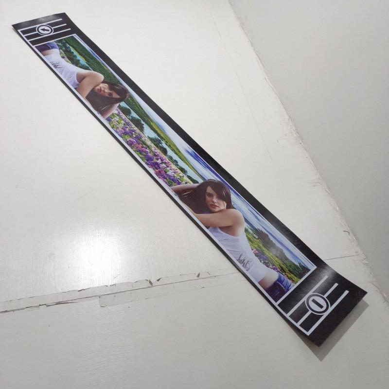 "Брызговик резиновый на задний бампер с рисунком ""ДВЕ ДЕВУШКИ"" 2400х350мм"